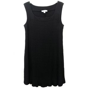 Amour Vert Modal Swing Dress Black Flat Rib Large